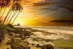 Puesta del sol fantástica Foto de archivo libre de regalías