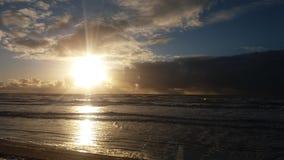 Puesta del sol fantástica Fotografía de archivo