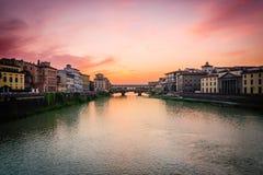 Puesta del sol florentina Imagen de archivo