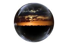 Puesta del sol flotante imágenes de archivo libres de regalías