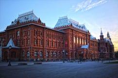Puesta del sol fuera de la Plaza Roja en Moscú imágenes de archivo libres de regalías