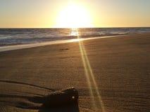 Puesta del sol gigante Imagen de archivo libre de regalías