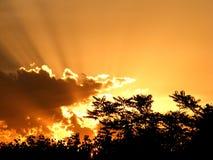 Puesta del sol gloriosa Fotografía de archivo libre de regalías