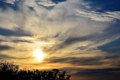 Puesta del sol gloriosa imagen de archivo libre de regalías
