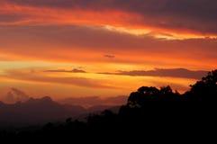 Puesta del sol Gold Coast Foto de archivo libre de regalías