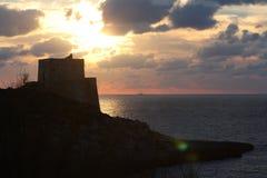 Puesta del sol, Gozo Fotografía de archivo libre de regalías
