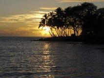 Puesta del sol grande de la isla foto de archivo libre de regalías