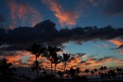 Puesta del sol grande de la isla Fotografía de archivo