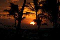 Puesta del sol grande de la isla Fotos de archivo