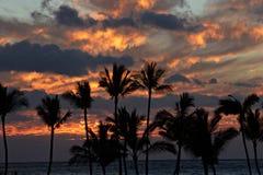 Puesta del sol grande de la isla Imágenes de archivo libres de regalías
