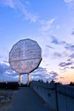Puesta del sol grande del níquel Fotografía de archivo