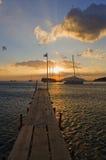 Puesta del sol griega Fotos de archivo libres de regalías