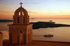 Puesta del sol griega Foto de archivo libre de regalías