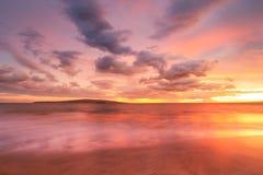 Puesta del sol hawaiana fotografía de archivo libre de regalías