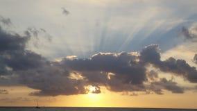 Puesta del sol hawaiana Imagen de archivo