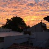 Puesta del sol HD Fotografía de archivo libre de regalías