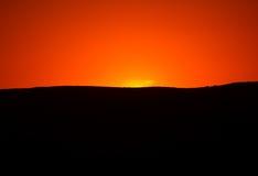 Puesta del sol hermosa imagenes de archivo