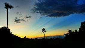 Puesta del sol hermosa Imagen de archivo libre de regalías