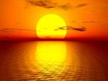 Puesta del sol hermosa Imagen de archivo