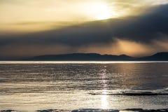 Puesta del sol hermosa 8 Fotos de archivo