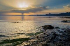 Puesta del sol hermosa 6 Imagen de archivo libre de regalías