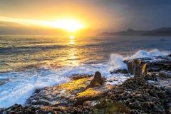 Puesta del sol hermosa 2 Foto de archivo libre de regalías