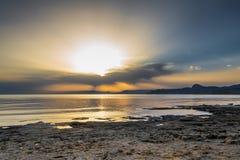 Puesta del sol hermosa 7 Fotografía de archivo libre de regalías