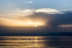 Puesta del sol hermosa 4 Imagen de archivo libre de regalías