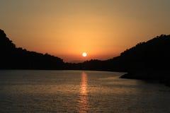 Puesta del sol hermosa 13 Foto de archivo