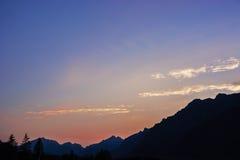 Puesta del sol hermosa Fotografía de archivo libre de regalías
