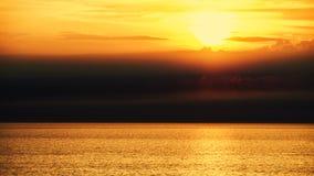 Puesta del sol hermosa Imágenes de archivo libres de regalías