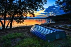 Puesta del sol hermosa Australia Fotos de archivo libres de regalías