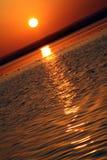 Puesta del sol hermosa - color Fotos de archivo libres de regalías