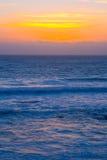 Puesta del sol hermosa de California Fotografía de archivo