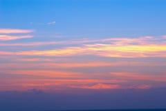 Puesta del sol hermosa de California Imagenes de archivo