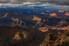 Puesta del sol hermosa de Grand Canyon del borde del norte; Arizona; Unido Foto de archivo