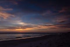 Puesta del sol hermosa de la playa de Bradenton Imágenes de archivo libres de regalías