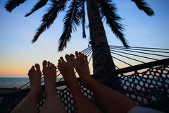 Puesta del sol hermosa de las vacaciones Imágenes de archivo libres de regalías