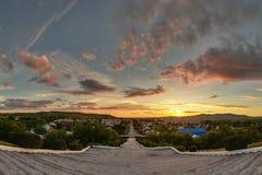 Puesta del sol hermosa de Orenburg Foto de archivo