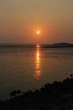 Puesta del sol hermosa de Tailandia Imagen de archivo libre de regalías