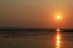 Puesta del sol hermosa de Tailandia Fotos de archivo libres de regalías