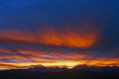 Puesta del sol hermosa de Utah del invierno Fotos de archivo libres de regalías