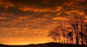 Puesta del sol hermosa del countyside imagen de archivo libre de regalías