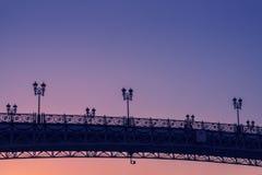 Puesta del sol hermosa del puente del ` s del patriarca Imagen de archivo libre de regalías