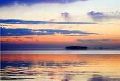 Puesta del sol hermosa del verano Imagen de archivo libre de regalías
