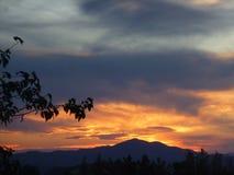 Puesta del sol hermosa del verano Imágenes de archivo libres de regalías