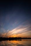 Puesta del sol hermosa, hecha en la zona oriental de los Países Bajos Fotografía de archivo