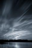 Puesta del sol hermosa, hecha en la zona oriental de los Países Bajos Foto de archivo libre de regalías