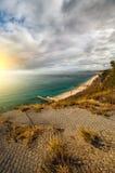Puesta del sol hermosa Mountain View Paisaje marino Fotos de archivo libres de regalías