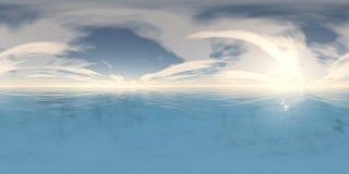 Puesta del sol hermosa sobre las nubes Fotografía de archivo